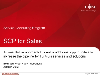 Service Consulting  Program SCP for Sales