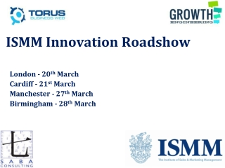 ISMM Innovation  Roadshow