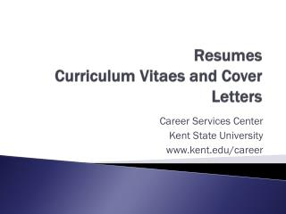 Resumes  Curriculum  Vitaes  and Cover Letters