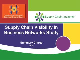 Supply Chain Visibility in Business Networks Study Summary Charts 2014
