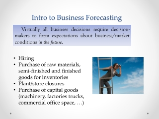 Intro to Business Forecasting