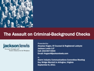 The  Assault on Criminal-Background  Checks