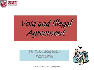 Void and Illegal Agreement