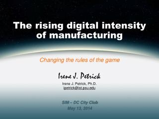 The rising digital intensity of manufacturing