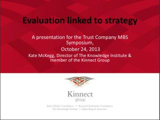 Evaluation linked to strategy