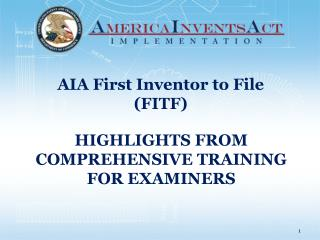 HIGHLIGHTS FROM COMPREHENSIVE TRAINING FOR EXAMINERS