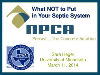 What NOT to Put  in Your Septic System