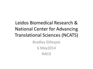 Leidos  Biomedical Research & National Center for Advancing Translational Sciences (NCATS)
