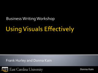 Using Visuals Effectively