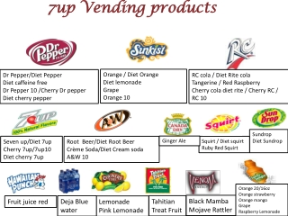 7up Vending products