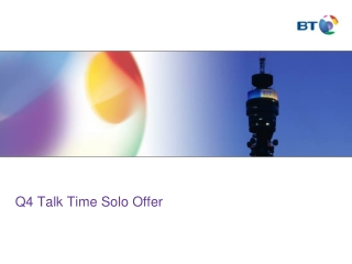 Q4 Talk Time Solo Offer