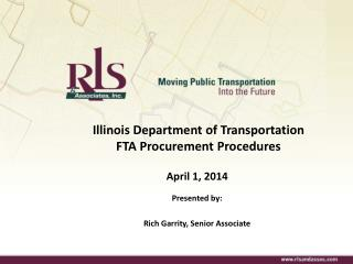 Illinois Department of Transportation FTA Procurement Procedures