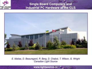 Single Board Computers and  Industrial PC Hardware at the CLS