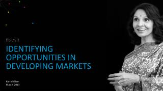 Identifying opportunities in developing markets