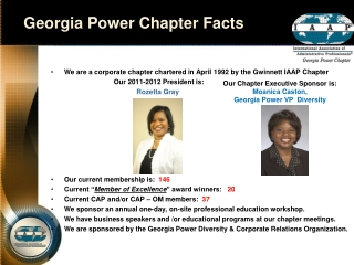 Georgia Power Chapter Facts