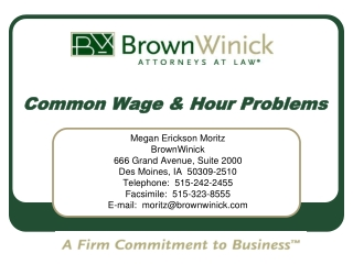 Common Wage & Hour Problems