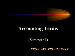 Prof. Ms. Trupti naik