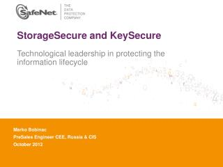 StorageSecure and KeySecure