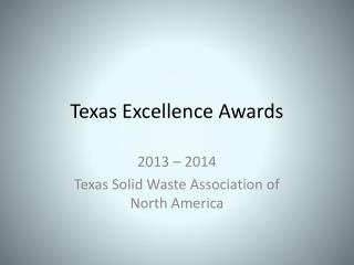 Texas Excellence Awards