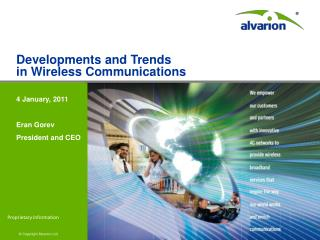 Developments and Trends in Wireless Communications