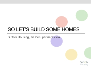 So Let's build some homes