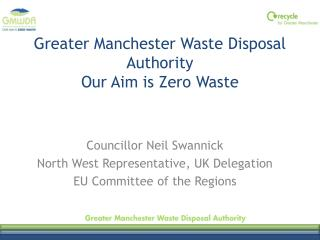 Greater Manchester Waste Disposal Authority  Our Aim is Zero Waste