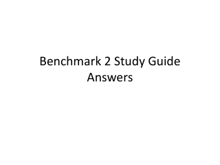 Benchmark 2 Study Guide Answers