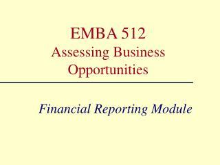 Financial Reporting Module