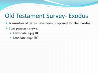 Old Testament Survey- Exodus