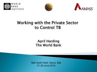 April Harding World Bank/ IFC