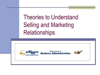 Theories to Understand Selling and Marketing Relationships