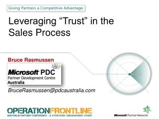 "Leveraging ""Trust"" in the Sales Process"
