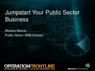 Jumpstart Your Public Sector Business