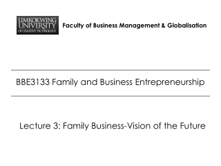 Faculty of Business Management & Globalisation