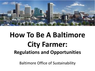 How To Be A Baltimore  City  Farmer: Regulations and Opportunities