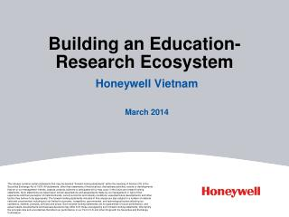 Building an Education-Research Ecosystem