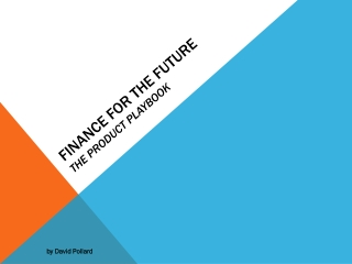 Finance for the Future The Product  playbook