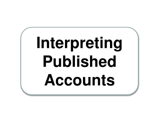 Interpreting Published Accounts