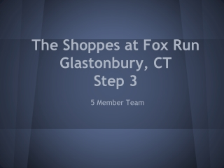 The Shoppes at Fox Run Glastonbury, CT Step 3