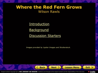 Where the Red Fern Grows Wilson Rawls
