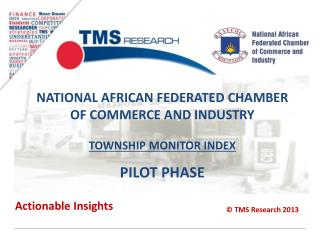 National African federated chamber of commerce and industry township monitor Index Pilot PHASE