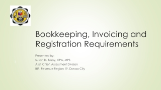 Bookkeeping, Invoicing and Registration Requirements