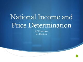 National Income and Price Determination