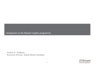 Introduction  to the Market Insights programme