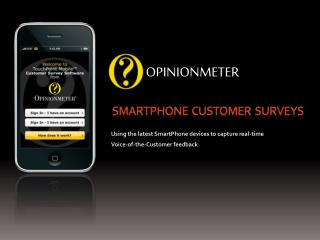SmartPhone  Customer  Surveys