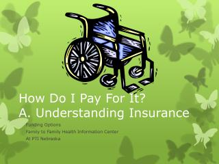 How Do I Pay For It ? A. Understanding Insurance