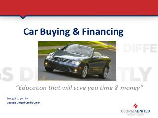 Car Buying & Financing  Confidence