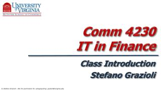 Comm 4230  IT in Finance