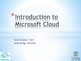 Introduction to Microsoft Cloud