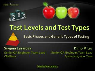 Test Levels and Test Types